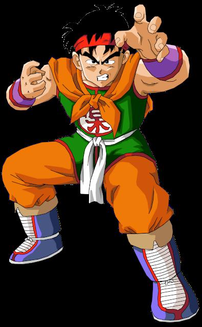 Desenho Yamcha Dragon Ball Z colorido com fundo transparente