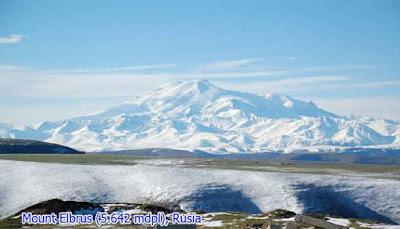 Mount Elbrus (5.642 mdpl), Rusia