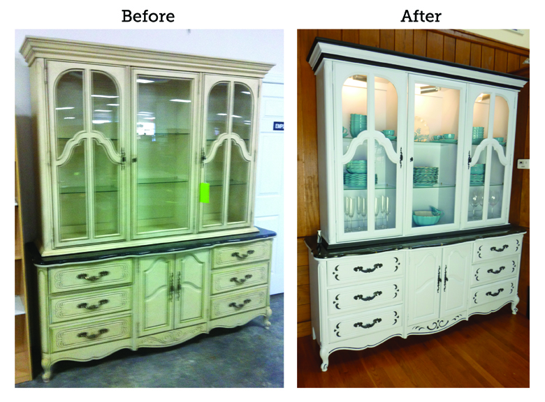Before and After: China Cabinet