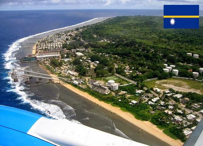 Nauru - smallest country ranked 3rd