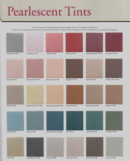 Benjamin moore metallic glaze paints jadore car interior for Benjamin moore paint program