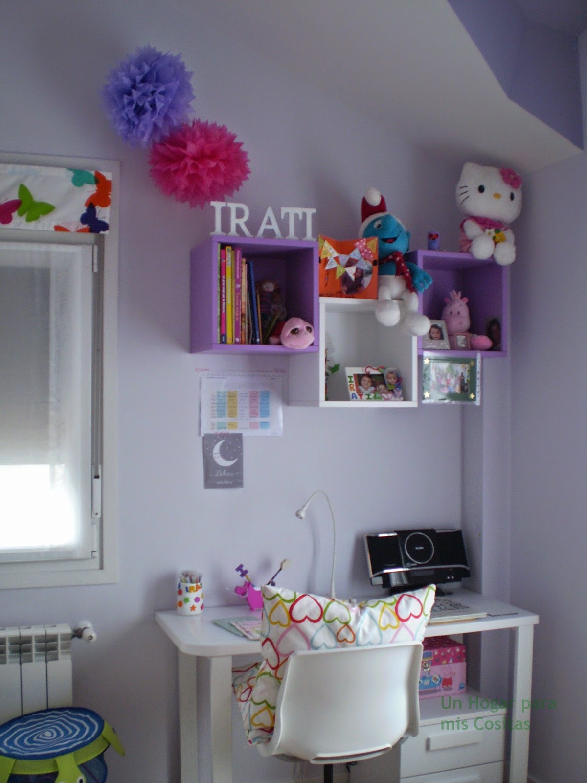 Un hogar para mis cositas zona de trabajo estudio infantil - Mesa estudio infantil ...