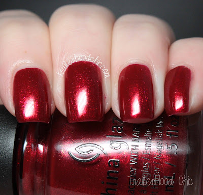 china glaze cheers holiday review swatches peppermint to be
