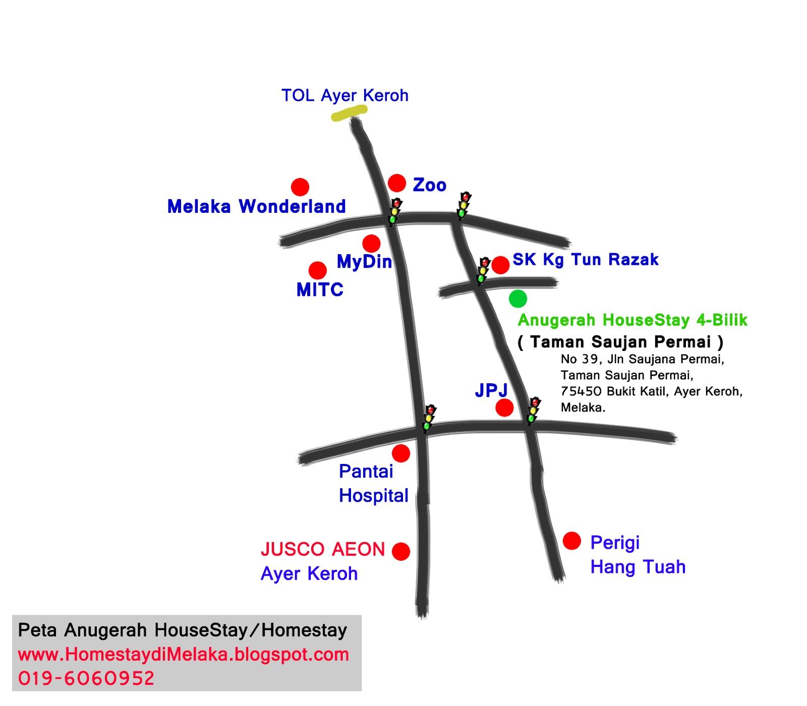 3RC 3Rooms Corner  Anugerah Homestay Melaka  Homestay murah di