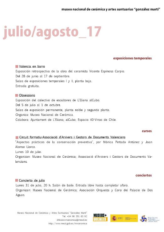 ACV 06 MUSEO GLEZ MARTÍ (01 de Julio al 31 de Agosto 2017)