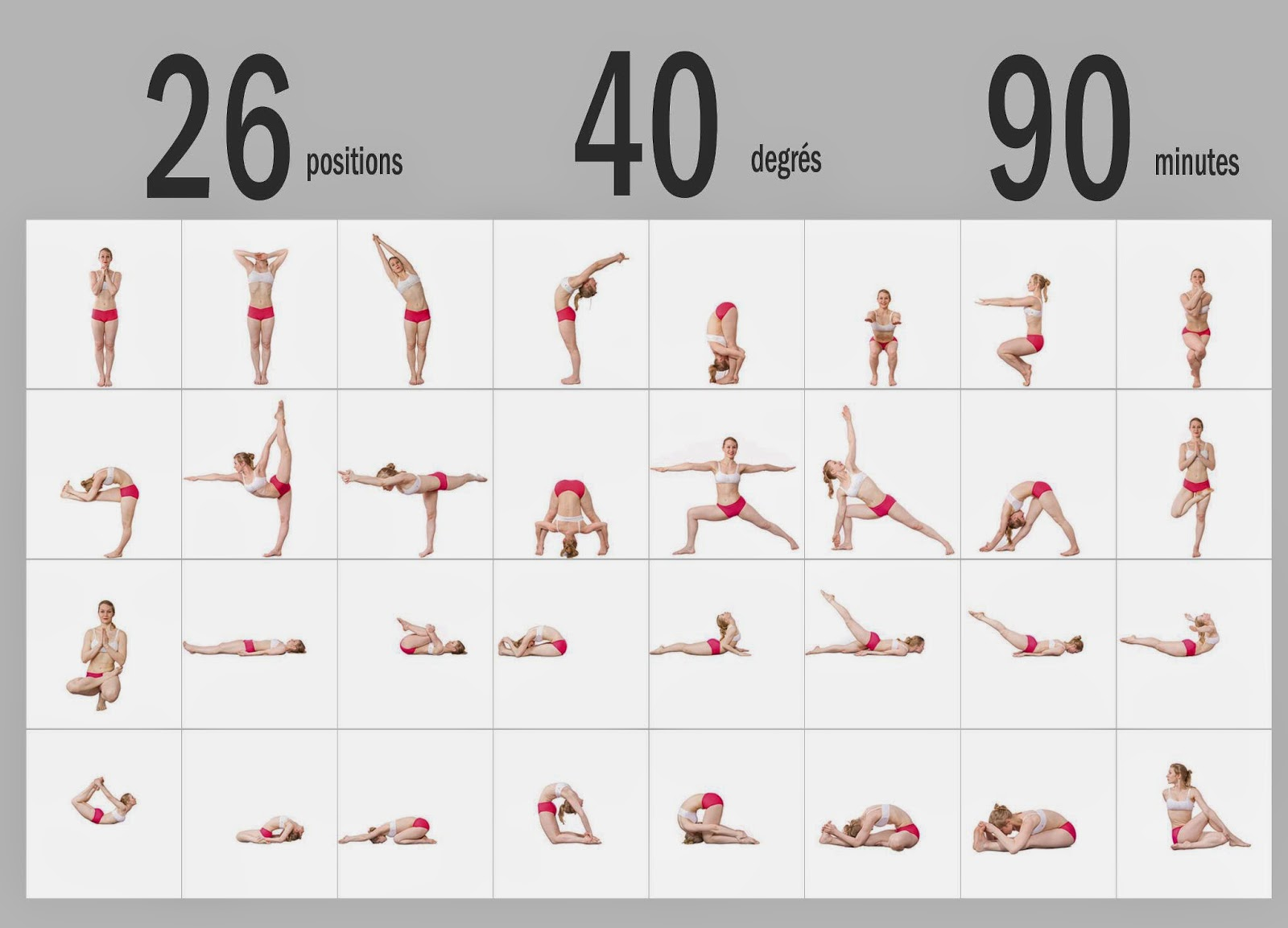 Do you know what Bikram Yoga is? Well, it is a class of 26 postures ...