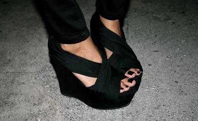 Zapatos de moda negros
