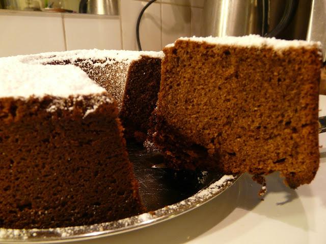 Cake au chocolat et à l'orange P1030647.JPG