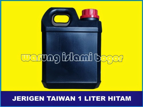Jual Jerigen 1 Liter Pendek Taiwan HITAM