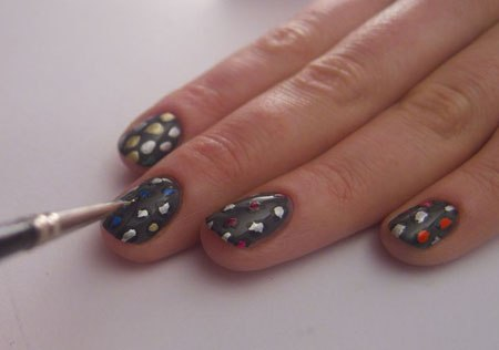 Multicolored leopard Nails - Nail Art Tutorial