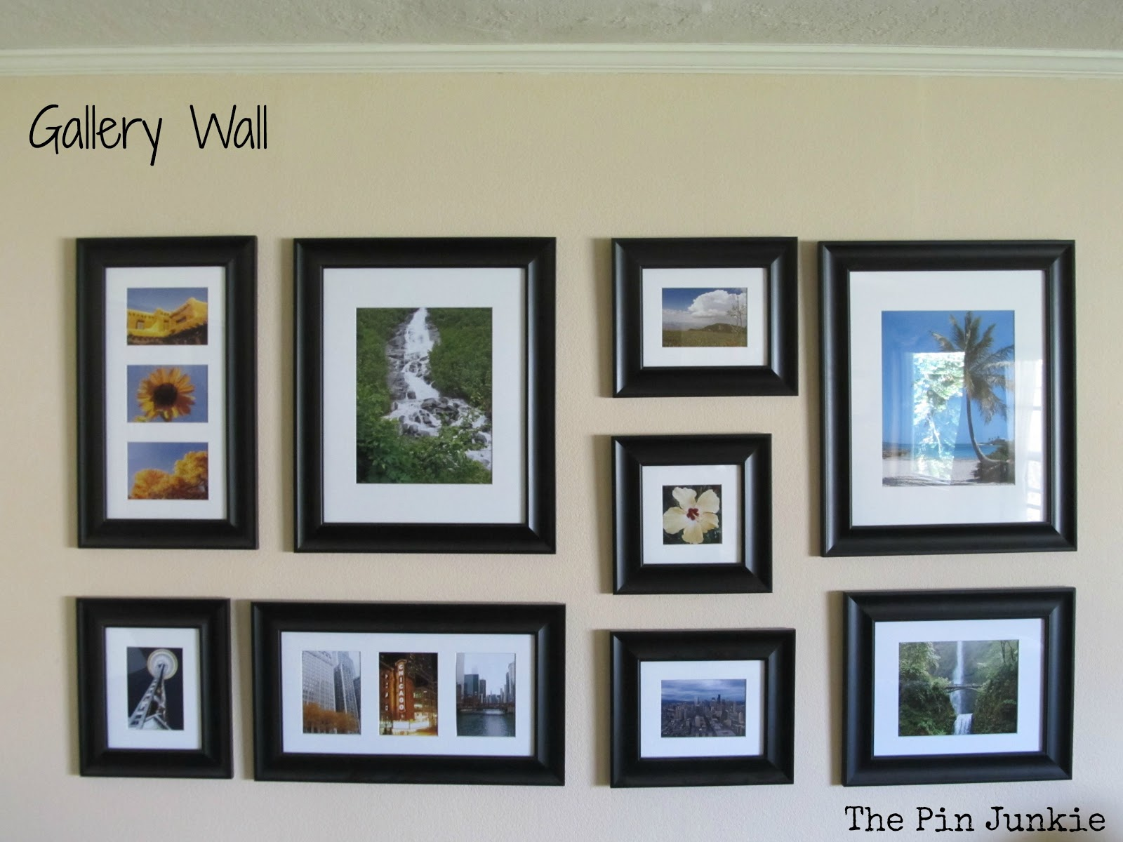 gallery wall travel photos