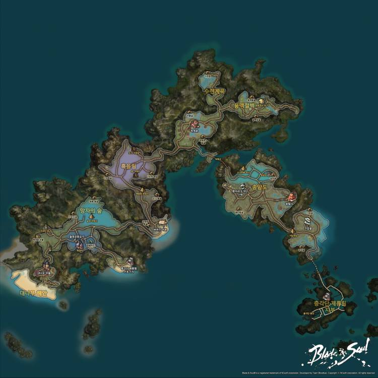 Blade and Soul World Map ~ Blade And Soul