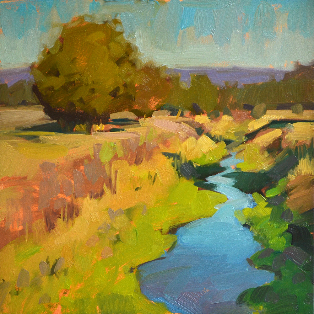 Carol marine s painting a day golden garden gully