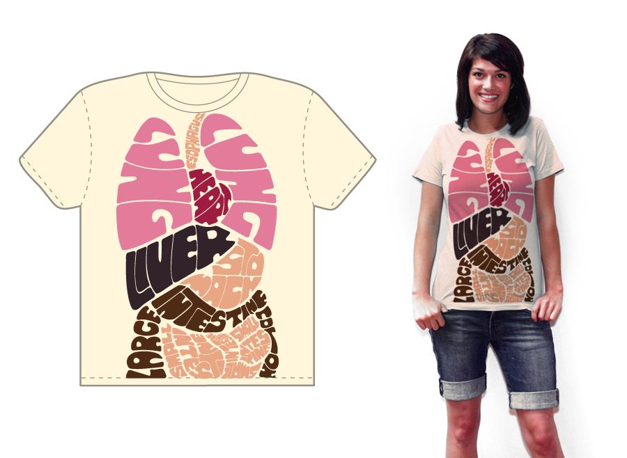 JkovNews: Anatomia en la camiseta