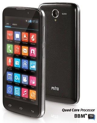 Mito Fantasy Power A68 Phablet Android harga dibawah 1.5 juta
