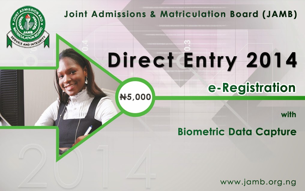 Jamb Direct Entry 2014 Registration