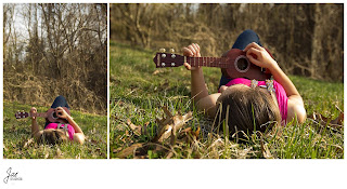 Rustic Outdoor portrait session with ukelele