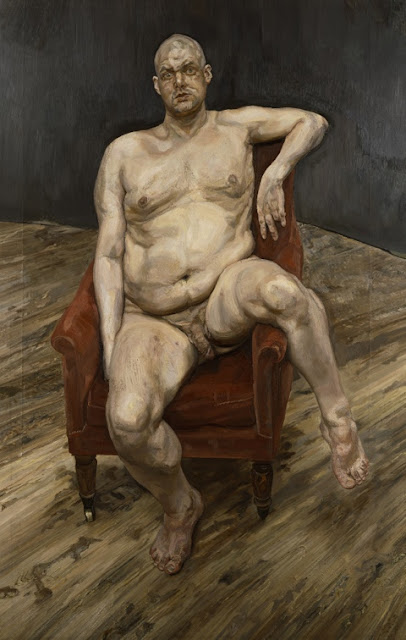 artist Lee Bowery painted by portrait artist Lucian Freud