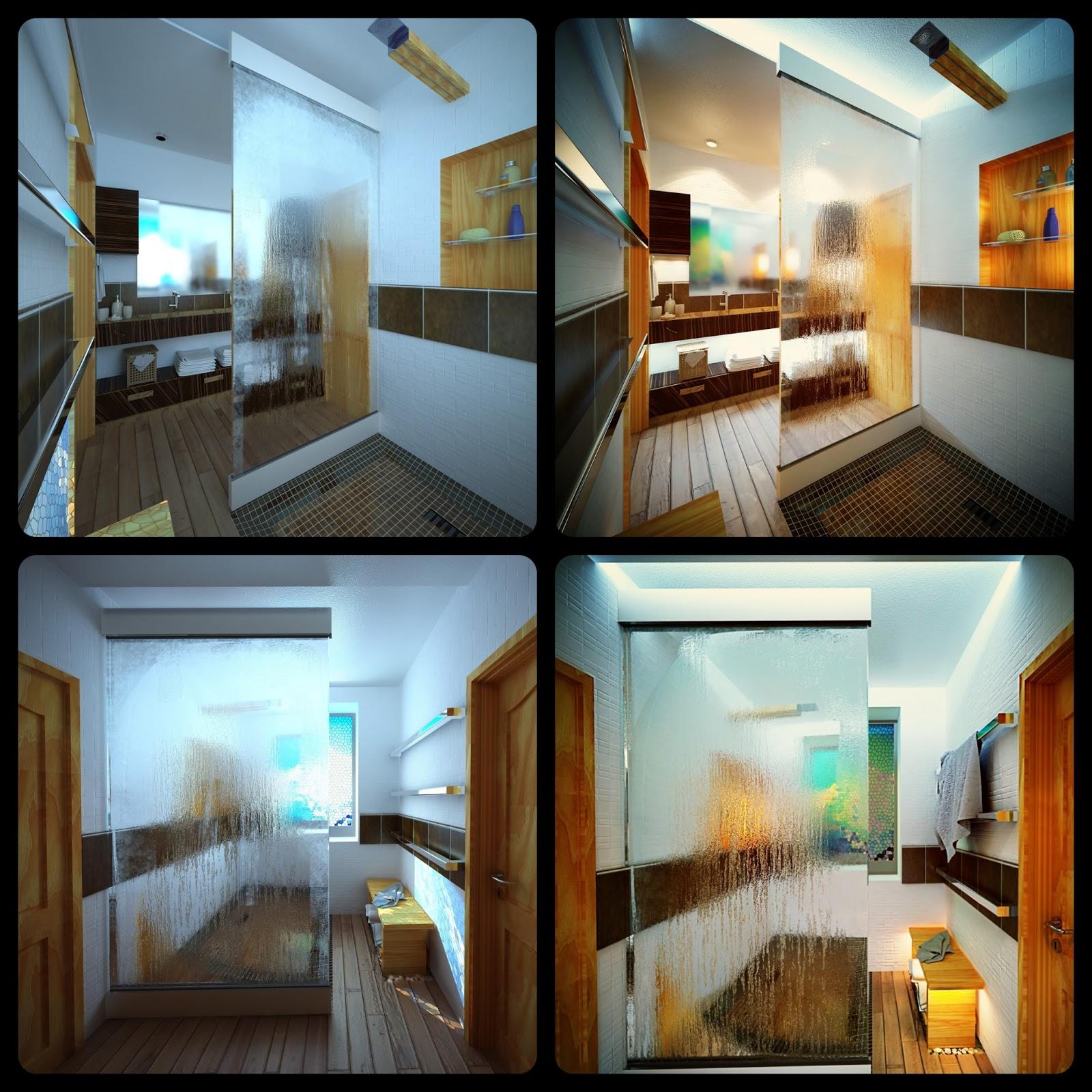 Interior del cuarto de ba o dise o de interiores for Diseno de espacios interiores
