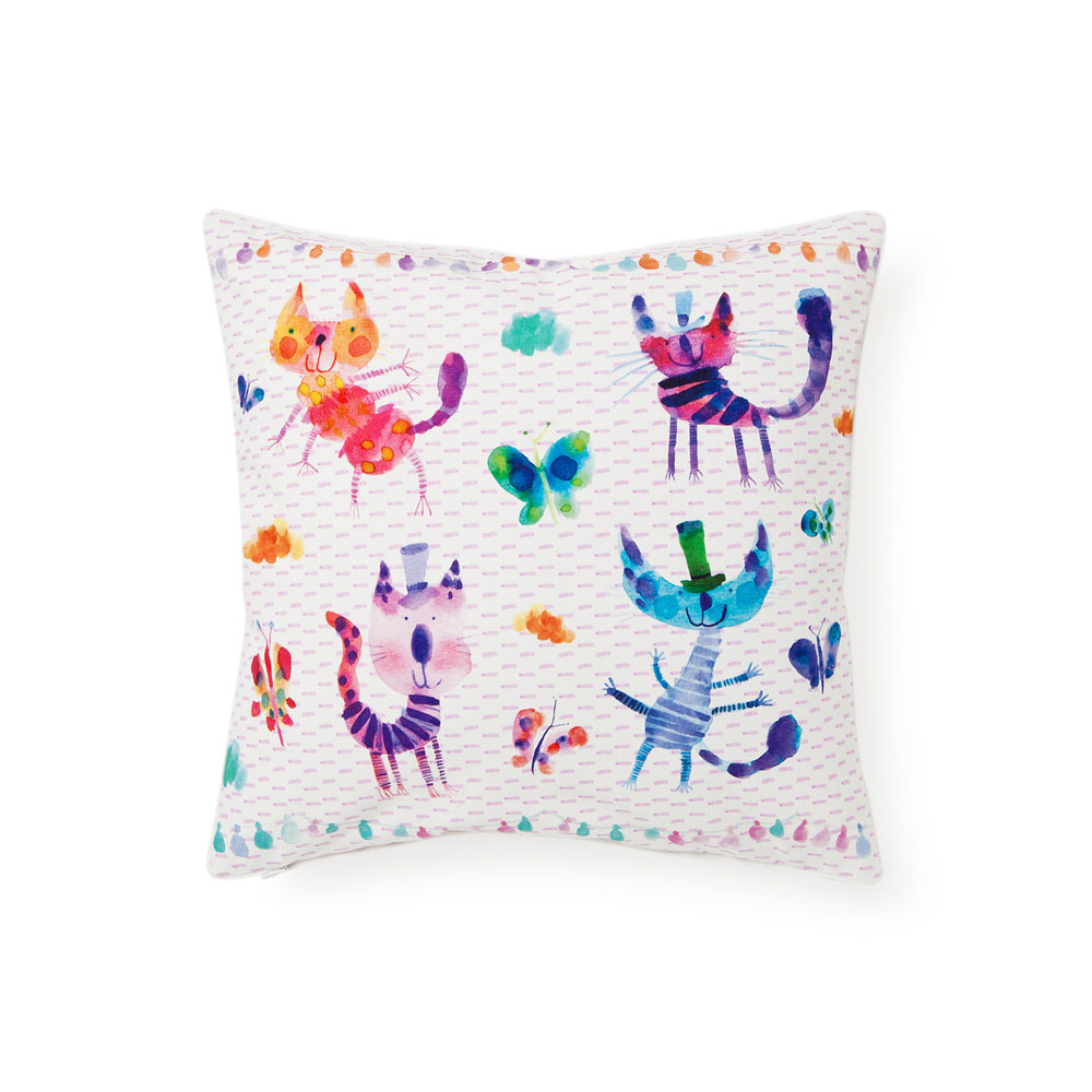 coussin design chat zara home kids