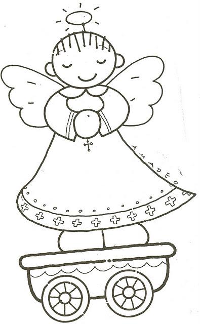 Ba l de navidad tren de navidad infantil para colorear - Como decorar un dibujo de navidad ...