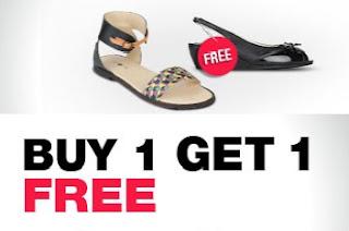 Jabong Offer : Buy 1 Get 1 Offer on Ladies Footwear