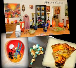 Glas - Kunst,Schmuck und Malerei bei Art und Design Dora Groza
