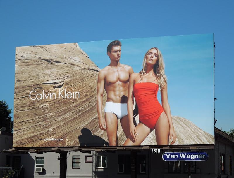 Calvin Klein swimwear 2012 billboard