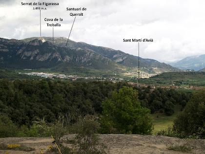 La Serra de Queralt i el Serrat de La Figarassa des del Bosc del Ramonet