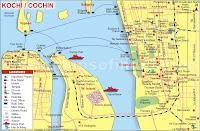 Kochi Tourism Map