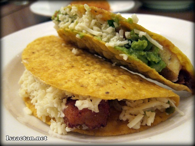 The Baja-Styled Fish and Tofu Guacamole Tacos