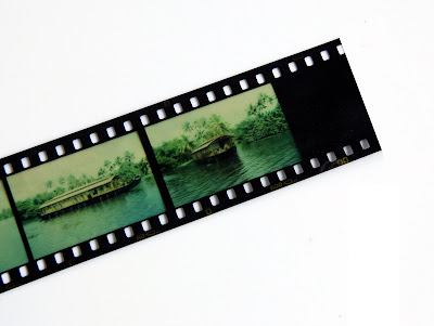 exposed and developed slide film to make infrared filter