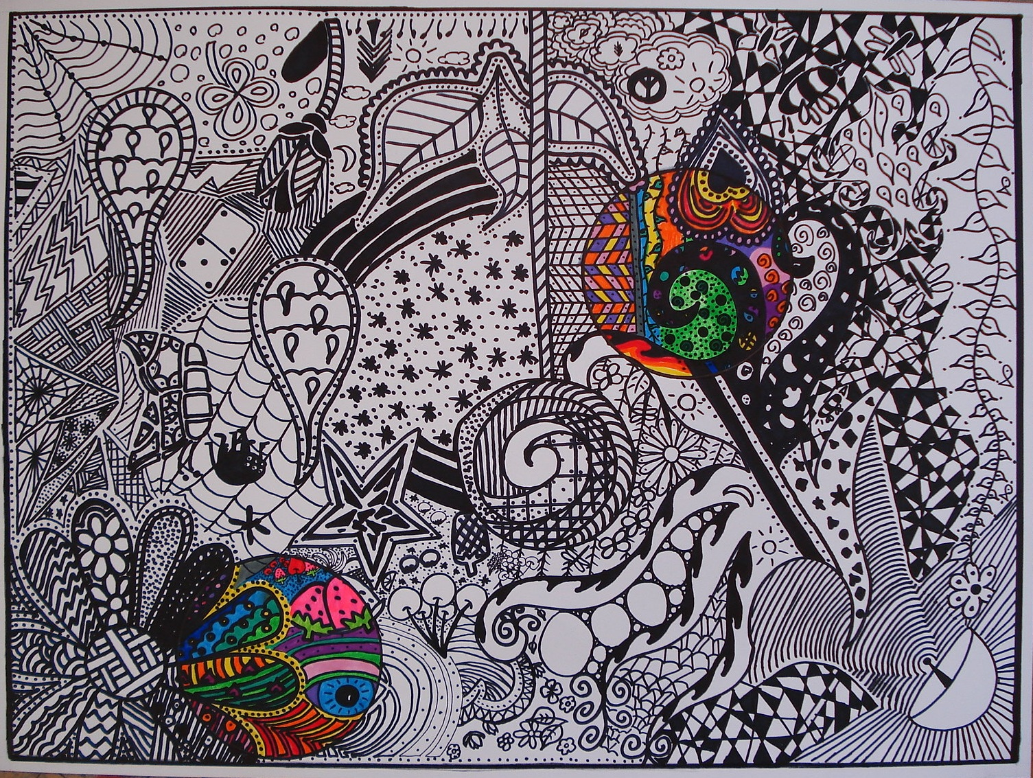 art sub lessons black and white doodle design