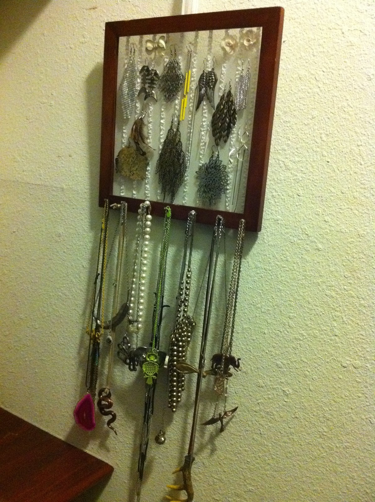 diy necklace and earring holders sevenmorroses