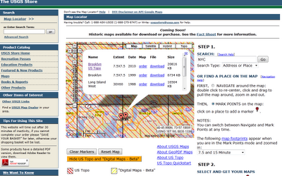 USGS Map Locator
