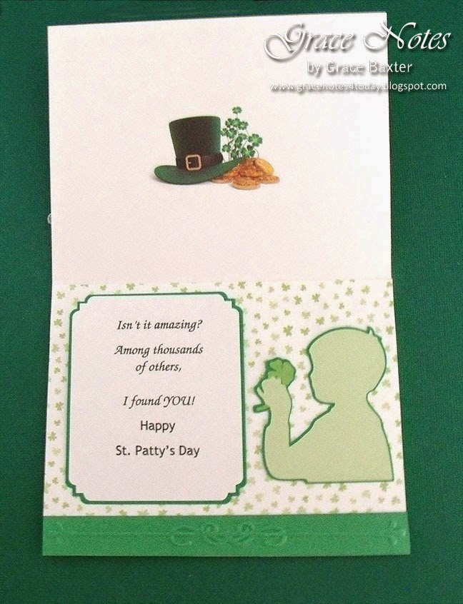 Luck O' the Irish, St. Patty's Day card, inside by Grace Baxter