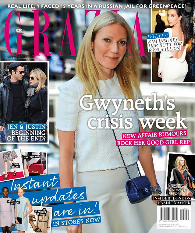 Gwyneth Paltrow para Grazia Magazine South África marzo 2014