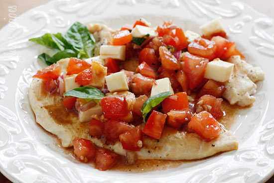 Grilled Chicken Bruschetta – a delicious, light summer dish!