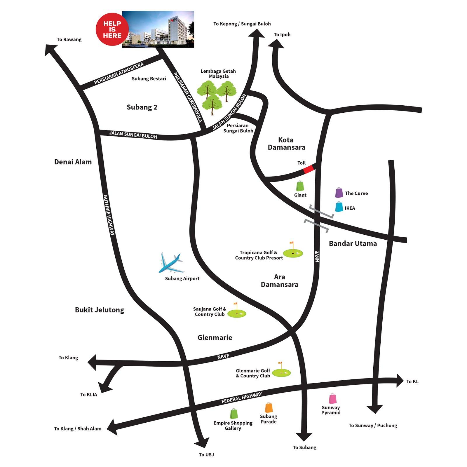 Location Map: Subang 2