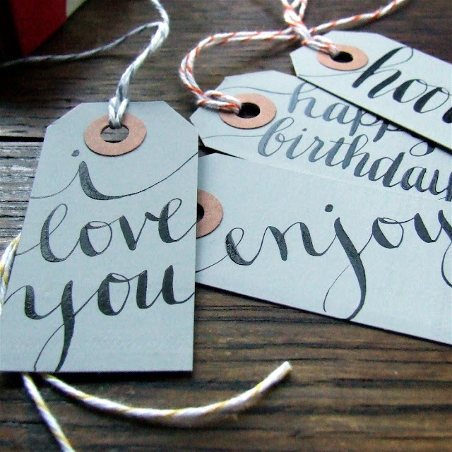 Beautifully hand lettered gift tags for all of life 39s moments
