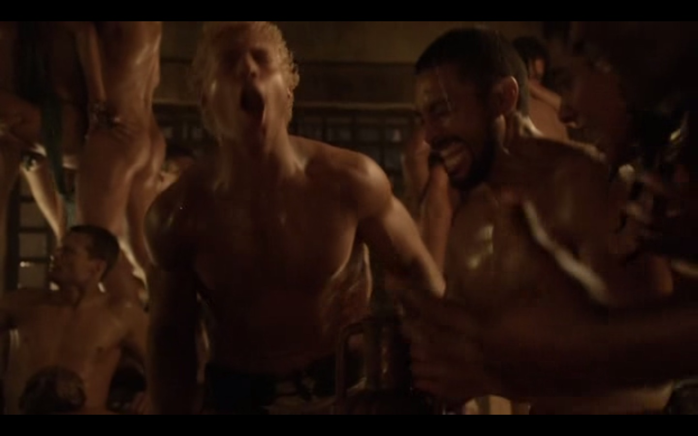 Spartacus blood and sand orgy