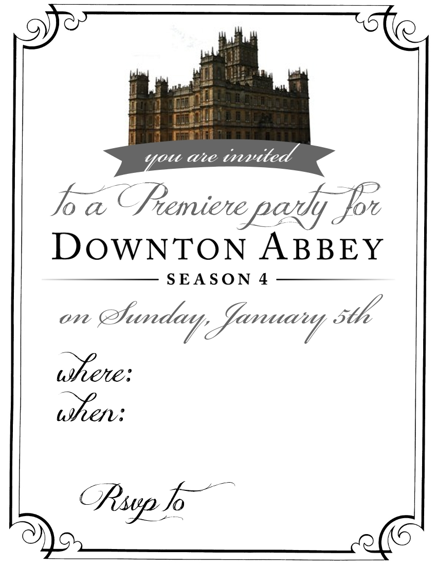 Downton Abbey Party Invitation UPDATED - My Sister\'s Suitcase ...