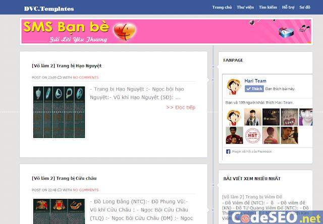 Share Template Blogspot gần giống Facebook khá mượt