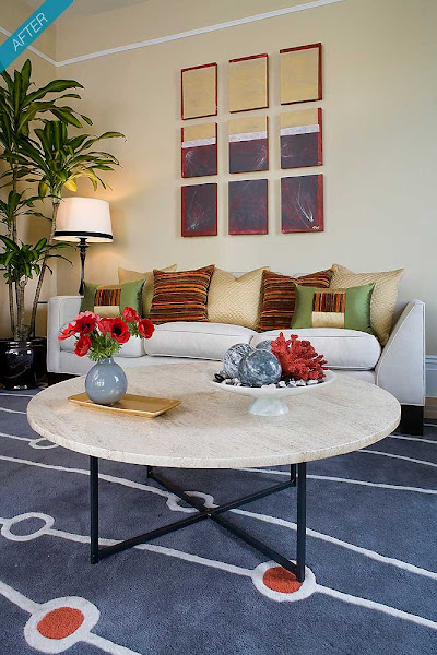 San Francisco Pacific Heights living room after Kimball Starr Interior Design