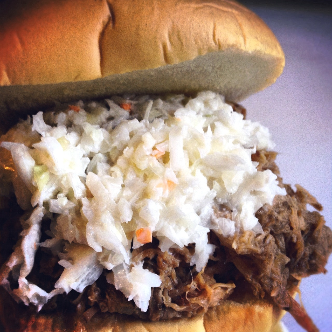 Fatback and Foie Gras: Slow Cooker Pork BBQ Sandwiches with Creamy ...