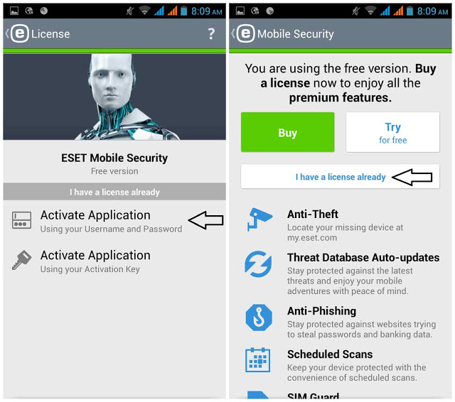 ESET Mobile Security Antivirus Premium 3.2.4.0 Apk Full Key