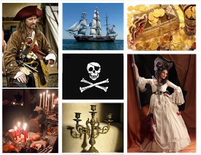 Pirate wedding inspiration board