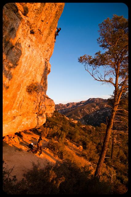 Wspinaczka sportowa w Margalef, Catalonia, Hiszpania, fot. Łukasz Cyrus