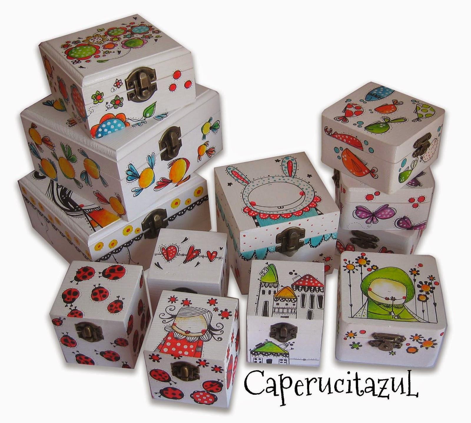 Cajas en mdf pintadas a mano cajas pintadas a mano for Cajas pintadas a mano
