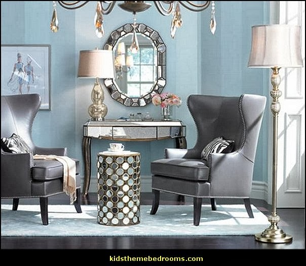 Decorating theme bedrooms maries manor hollywood glam for Hollywood glam living room ideas